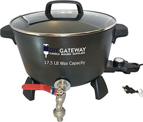 Wax Melter for Candle Making: Extra Large 17.5 LB Wax Capacity Electric Wax Melting Pot Machine with Quick-Pour Spout & Free Ebook
