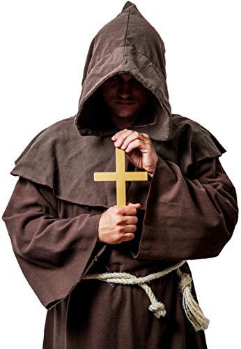 Balinco Kreuz Anhänger mit Kordel | Priester | Christ | Mönch | Nonne | Bischof - das ideale Accessoire als Ergänzung zum Mönch