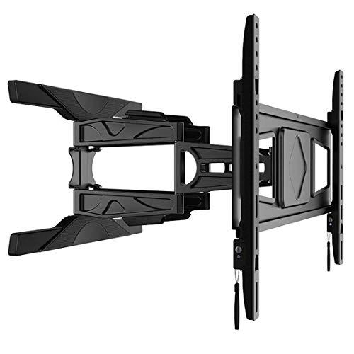 YABAISHI Soporte de pared para TV de 32 a 60 pulgadas curvo para TV de rotación escalable Soporte de pared universal para pantalla (color negro)