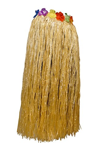 Dress Me Up - CQ-004-nature Karneval Hawaii Rock Bastrock Südsee Pazifik Hula Skirt Natur Naturfarben Lang 75 - 80 cm