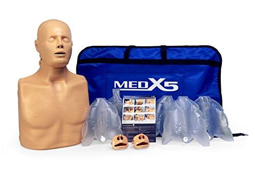 MedX5 (Upgrade 2019) 2in1 HLW Übungspuppe für Wiederbelebung, Trainingspuppe für Erste Hilfe Training, Reanimationspuppe, Wiederbelebungspuppe für Jugendliche und Erwachsene