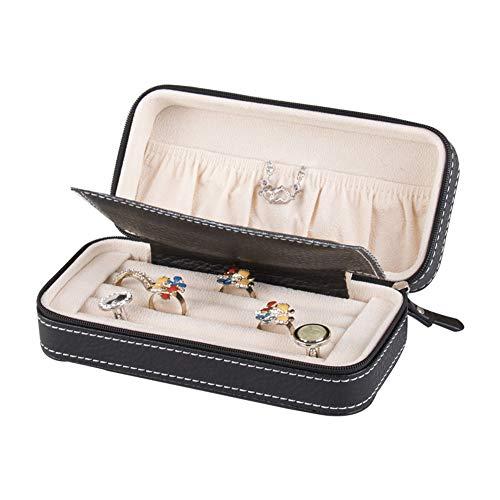 Pequeña Caja de joyería del Viaje, los Gemelos Lazo Galería Multimedia, Zipper Anillos Closurefor, Pulseras, Collares, Regalo para Las Mujeres