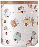 Tarro con tapas herméticas de bambú 3 piezas de recipiente de cocina Set de cerámica recipientes de almacenamiento de alimentos - 1350ml/50oz