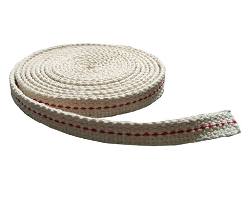 Mecha de algodón plana para lámpara de aceite, queroseno, de 1 metro, 10 mm