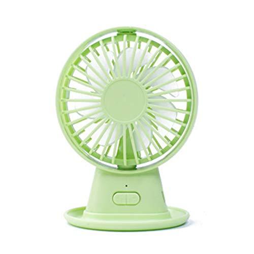 Ventiladores, Ventilador De Mesa De Enfriamiento De 3 Velocidades con ABS De ángulo Ajustable Y Ventilador De Escritorio para Oficina Verde Talla única