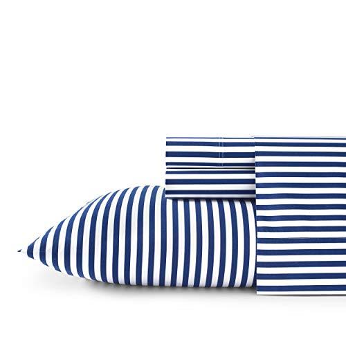 Marimekko Percale Collection Sheet Set-100% Cotton, Crisp & Cool, Lightweight & Moisture-Wicking Bedding, King, AJO Blue