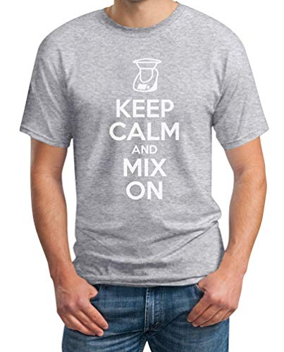 Keep Calm and Mix On - motief voor Thermomix liefhebbers T-shirt