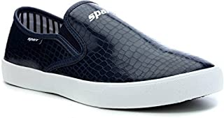 Sparx Men's Blue White Canvas Sneakers (SM-293)