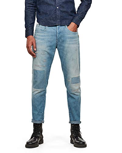 G-STAR RAW Loic Relaxed Tapered Jeans, Vintage Marine Blue Restored 9657/B482, 31W/ 34L Mens