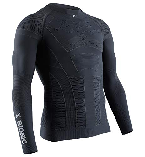 X-Bionic Moto Energizer 4.0 Light Long Sleeve Men Chemise Homme, Charcoal/Pearl Grey, FR (Taille Fabricant : XL)