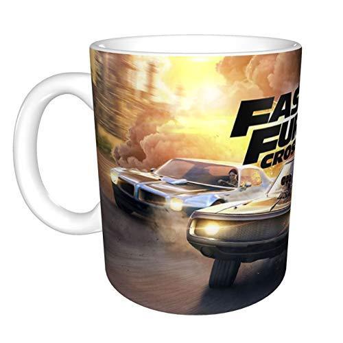 Fast Furious - Taza de café con diseño de dibujos animados (330 ml)