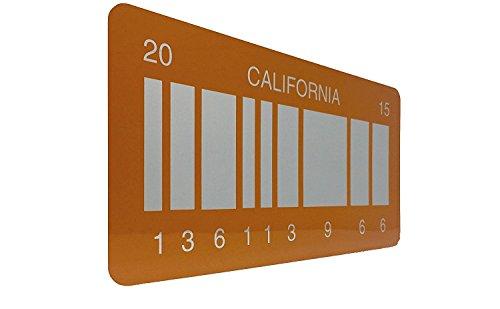 Back To The Future 2 Placa de matrícula Prop, Regreso al futuro 2 matrícula como se ve en Marty McFly y Doc Browns DMC-12 Delorean de la Película Regreso al futuro 2 con un código de barras reflejado en un plato de California 2015 OUTATIME (Incluye envío rastreado)