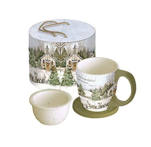 Lang 11 Oz Wisdom Brewed Here Tea Cup Ceramic In Tan Red Black Size 4 H X 5 W Wayfair 5054017 Ibt Shop