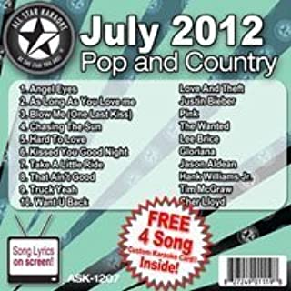 All Star Karaoke July 2012 Pop and Country Hits (ASK-1207) Karaoke Edition by Justin Bieber, Love And Theft, Pink, The Wanted, Lee Brice, Jason Aldean, Gloria (2012) Audio CD