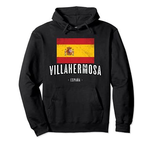 Villahermosa España   Souvenir - Ciudad - Bandera - Sudadera con Capucha