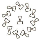 WedDecor Drehbar Klemmen Abnehmbare Schlüsselring Verschluss Metall Hummer Haken mit D-Ring für Schlüsselanhänger, Beutel,Geldbörsen,Handtasche,DIY Basteln Hardware,25mm,Silber,1pc - Silber (25mm)