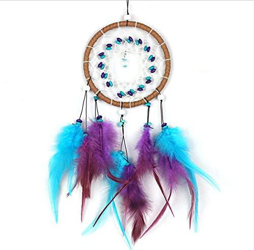 Mode Antike Nachahmung Dreamcatcher Windspiel Überprüfung Catcher Net Mit Naturstein Federn Wandbehang Dekor Ornament