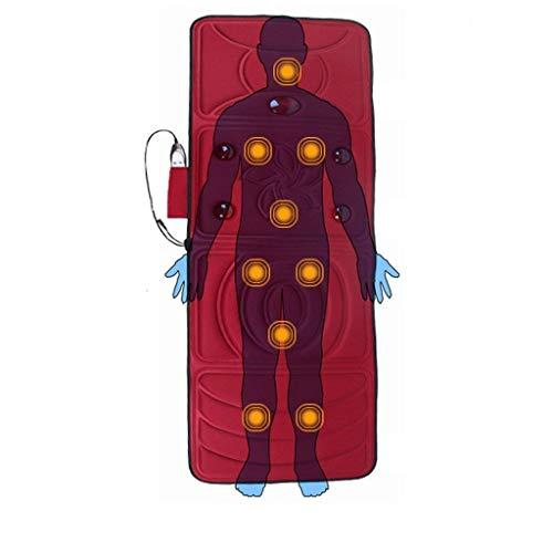 Mat Full Body Massage, Massage Matras Warmer Hyperthermie Vermogen Voor De Benen, Heupen, Nek-Formaat, Back, De Tastbare Verlicht De Pijn, 166 * 58Cm [Energy Class A]