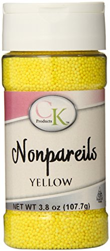 CK Products 4 Ounce Non Pareils Bottle, Yellow