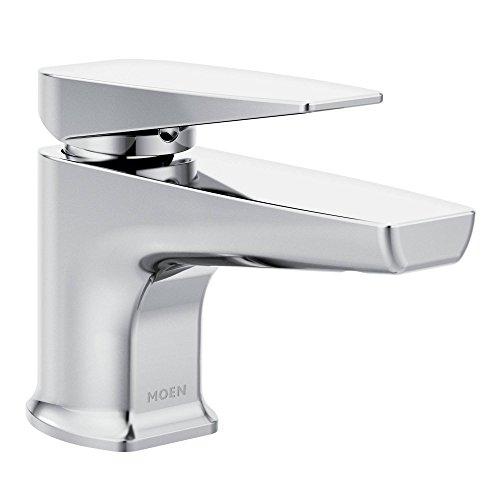Moen S8001 Via Collection One-Handle Low Arc Bathroom Faucet, Chrome