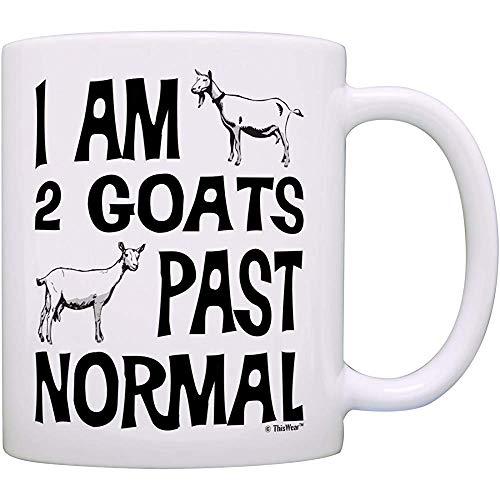 Regalos del granjero de la cabra Soy 2 cabras más allá de la granja normal de la cabra del animal doméstico Regalo de la cabra enana taza de café