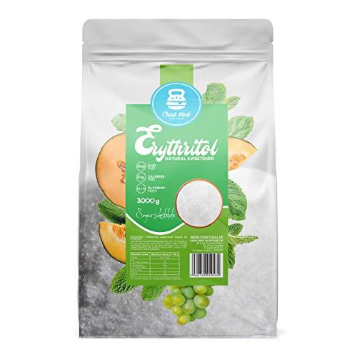 Cheat Meal Erythritol Pakket van 1 x 3000g – Calorievrije Suikervervanger – Keto – Thee en Koffie Zoetstof – Zoet Poeder…