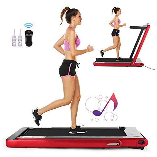 FUNMILY 2 in1 Folding Treadmill, 2.25HP Under Desk...