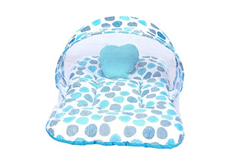Baby Fly Toddylon Baby Mosquito Net Bed (0-6 Months) (Blue Polka)