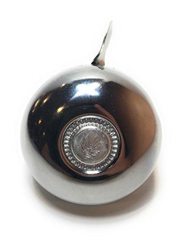 Rompak Bike Bell|Beautiful Chrome/Silver Metal Bell|Classic Sound Excellent for Mountain or Street Bicycles, Scooters, Cruisers, Electric Bikes, or Mopeds