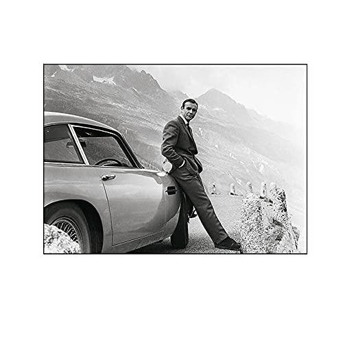 Ignite Wander James Bond 007 Film Leinwand Malerei Plakate und Drucke Wandkunst Bilder für Wohnzimmer Schlafzimmer Dekor -50x70 cm Kein Rahmen