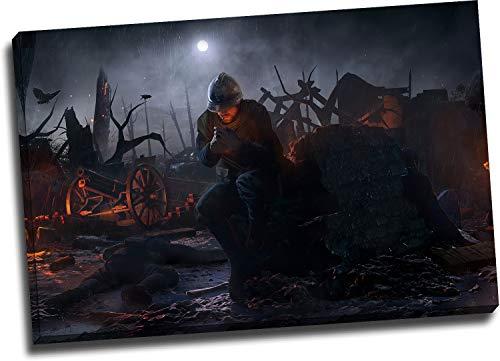 Trelemek Dying Light - Póster enmarcado para pared de baño, 24 x 16 pulgadas, diseño de videojuegos, impresión artística, decoración de oficina, hogar, obra de arte, lista para colgar
