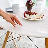 Tischfolie hochglanz rund 90 cm (in allen Größen erhältlich) +'die abgeschrägte Kante' Made in Germany