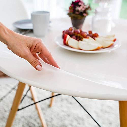 Profolio | Originale Tischfolie rund transparent mit abgeschrägte Kante | Hochglanz Tischdecke Tischschutz für Ihren Tisch 2mm | Made in Germany | Größe wählbar | 90 cm