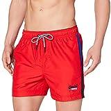 Superdry Beach Volley Swim Short Pantalones Cortos, Bandera roja, XL para Hombre