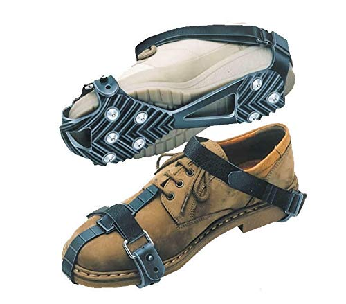 Emanhu Trading Schuh Spikes Schuhketten Gleitschutz Universal vers. Arten (36-45, Typ 2 (schwarz))