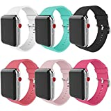 MITERV Compatible with Apple Watch Band 38mm 40mm Soft Silicone Replacement Band for Apple Watch Series 5,4,3,2,1 for 38mm 40mm Apple Watch
