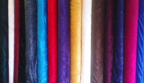 """Nouveau français Velours Tissu en 12 couleurs diverses 2 M x 55/"""" largeur"""
