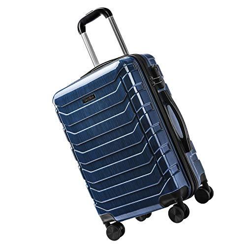CarryOne Maleta Superligera con 4 Ruedas Duales Giratorias Contraseña Cerradura Equipaje para Viajar-TD5-Azul