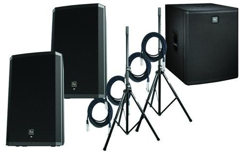 """Electro-Voice Dual ZLX15P w/ELX118P 18"""" Powered Sub PA Package"""