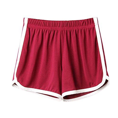 Shorts Damen Schlafanzughose Kurz Schlafhose Kurze Sporthose Baumwolle Pyjamahose Kurz Hosen Yoga Running Gym Beiläufige Elastische Allence