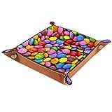 ATOMO Bandeja de almacenamiento de cuero Color Mármol Chocolate Key Jewelry Moneda Catchall Sundries Organizador Mesita de noche Pequeña bandeja clave teléfono joyería almacenamiento