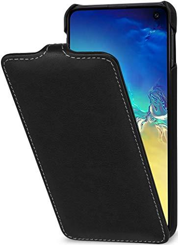 StilGut UltraSlim entwickelt für Samsung Galaxy S10e Hülle - Samsung Galaxy S10e Flip Hülle aus Leder, Klapphülle, Handyhülle, Lederhülle - Schwarz Nappa