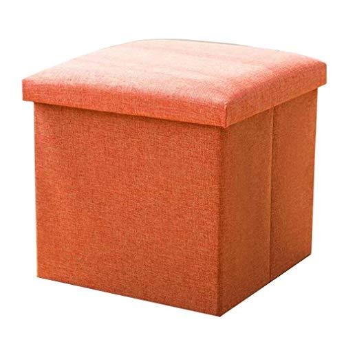 YCSD Asiento Otomano De Almacenamiento Pequeño Algodón Plegable  Cubo Toy Box para Niños, Disponible En 3 Tamaños (Color : Orange, Size : Small)
