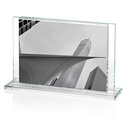 OMODOMO - Marco de cristal para fotos de 15 x 10 cm,...