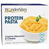 WonderSlim High Protein Pasta, Macaroni & Cheese - Trans Fat Free, Low Calorie, 12g Protein (5ct)