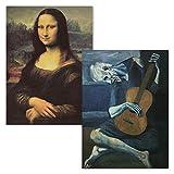 Poster Mona Lisa von Leonardo Da Vinci + Der alte