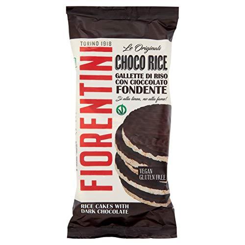 Fiorentini Gallette di Riso Ricoperte di Cioccolato Fondente, 100g