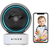 WLAN IP Kamera Babyphone HD 1080P Überwachungskamera Innen WiFi Baby/Haustier Kamera Nachtsicht,Körperverfolgung,Bewegungserkennung,APP-Alarm,iOS/Android,2-Wege-Audio,arbeitet mit Alexa 【Kamera+32G】