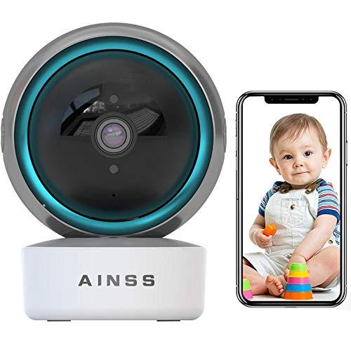 Baby Monitor Camara Vigilancia Cámara de Seguridad 1080p WiFi Cámara de Vigilancia Seguimiento Corporal,HD Vision Nocturna,Alarma App,Audio Bidireccional,iOS/Android,Compatible con Alexa 【Cámara+64G】