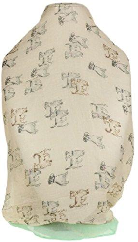 Meisjes Handtassen Womens Schetste Honden Sjaal Hond Rassen Print Terrier Beagle - Crème Licht Groen